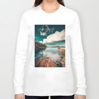 sunset Long Sleeve T-shirts featuring Belle Svezia by HappyMelvin