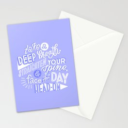 face this day Stationery Cards