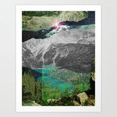 Experiment am Berg 4 Art Print