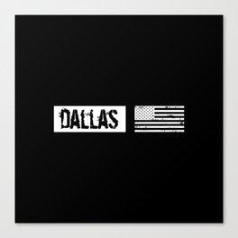 US Flag: Dallas Canvas Print