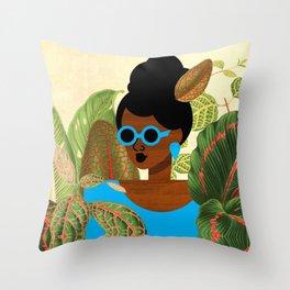 Bayou Girl III Throw Pillow