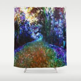 Galloping Goose Colour Shift Shower Curtain