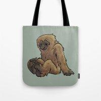 bigfoot Tote Bags featuring Bigfoot by Savannah Horrocks