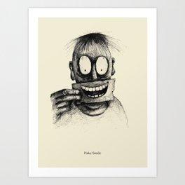 Fake Smile Art Print