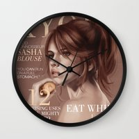 snk Wall Clocks featuring SnK Magazine: Sasha by emametlo