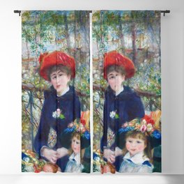 Two Sisters (On the Terrace) (1881) by Pierre-Auguste Renoir Blackout Curtain