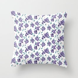 Watercolor Grapes Throw Pillow