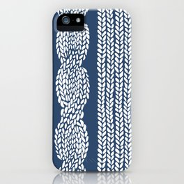 Cable Row Navy 1 iPhone Case
