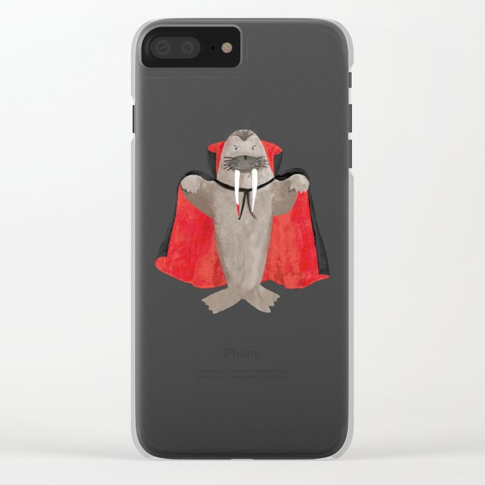 Vampire Walrus Clear iPhone Case