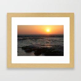 Sunrise on Lake Michigan in Winter Framed Art Print