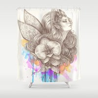 orchid Shower Curtains featuring Orchid by Bea González