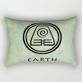 Avatar Last Airbender Elements - Earth Rectangular Pillow