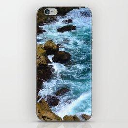 Pounding Ocean Surf on Jagged, Rocky Coastline iPhone Skin