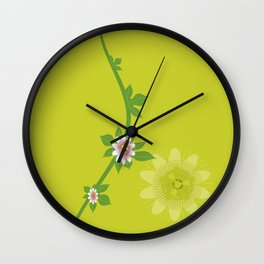 Maracuja flower Wall Clock
