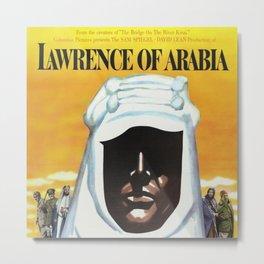 Vintage 1962 Lawrence of Arabia Movie Lobby Poster Metal Print
