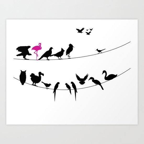 Best Bird Buddies Art Print