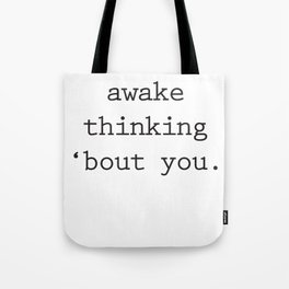 Wide Awake Print Tote Bag