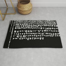 Zombie Game Bug Message Art Black and White Rug