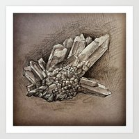 crystals Art Prints featuring Crystals by Werk of Art