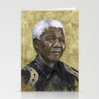 mandela Stationery Cards featuring Mandela by Sara Golish