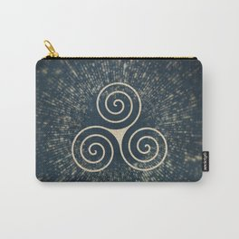 Triskelion Golden Three Spiral Celtic Symbol Carry-All Pouch