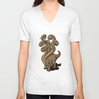 hydra V-neck T-shirts featuring Hydra by Jada Fitch