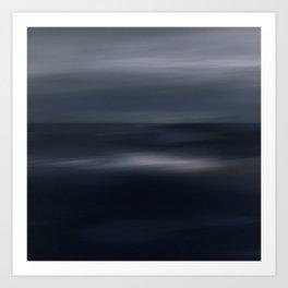 Sea glow - abstract seascape Art Print
