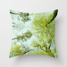 spring treetops  Throw Pillow