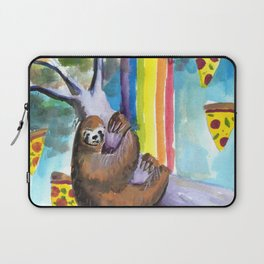 sloth pizza rainbow Laptop Sleeve