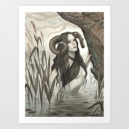The Witch of the Mire Art Print