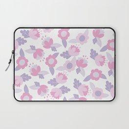 Hand painted pastel pink lavender modern floral Laptop Sleeve