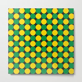 Green and Yellow Dodecagons Metal Print