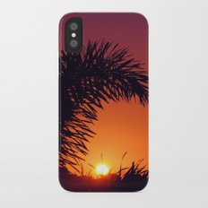 sunset in mexico iPhone X Slim Case
