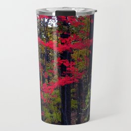 Floating Red Maple Travel Mug