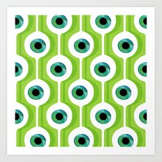 Eye Pod Green Art Print