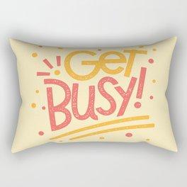 Get Busy! Rectangular Pillow