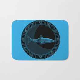 Engraved Shark Bath Mat