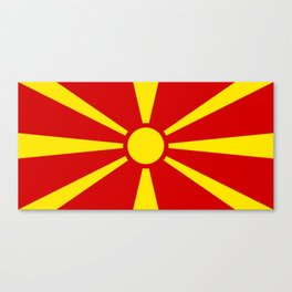National flag of Macedonia - authentic version Canvas Print
