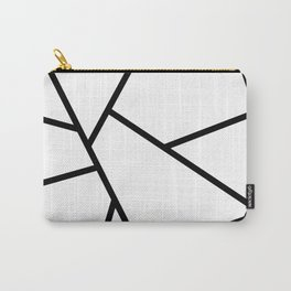 Black and White Fragments - Geometric Design I Carry-All Pouch