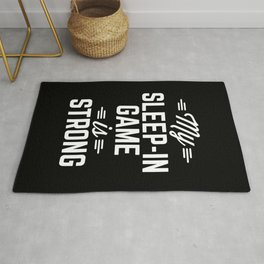 Sleep-In Game Funny Quote Rug