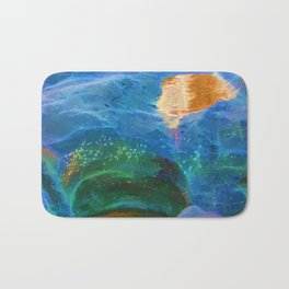 Abstract beautiful rock pools in the late afternoon Bath Mat