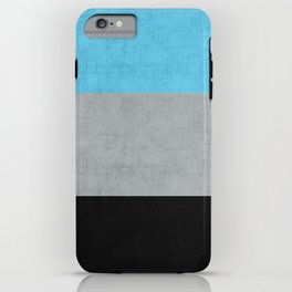 Tri Colour Stripes iPhone Case