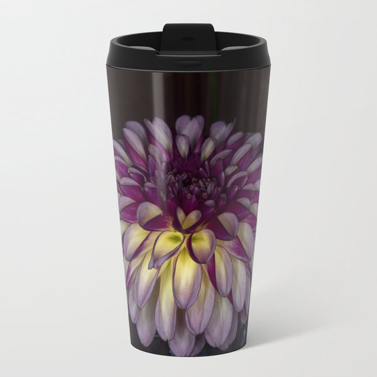 Flower glow Metal Travel Mug