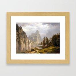 Albert Bierstadt Merced River, Yosemite Valley Framed Art Print