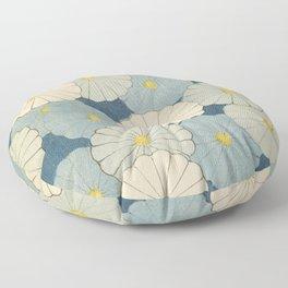 Japanese Vintage Flowers Floor Pillow