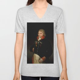 "Francisco Goya ""Ignacio Garcini y Queralt (1752–1825), Brigadier of Engineers"" Unisex V-Neck"