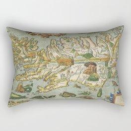 Iceland Map 1590 Rectangular Pillow