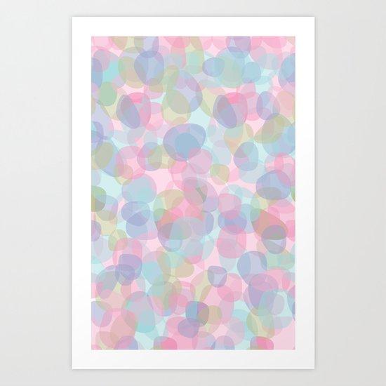 Pebbles Lavender Art Print