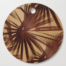 Burgundy and Coffee Tropical Beach Palm Vector Cutting Board