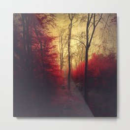 Ruby Red Forest Metal Print